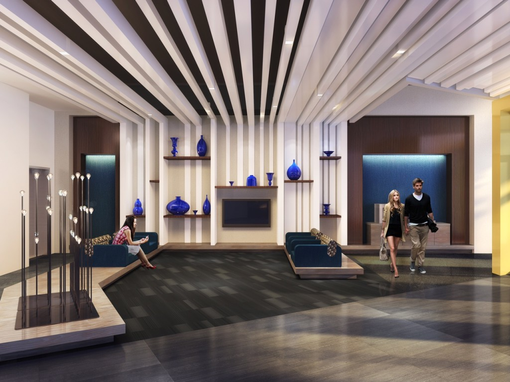 2700 Lobby Sm. The Project Features 248 Luxury Apartments ...